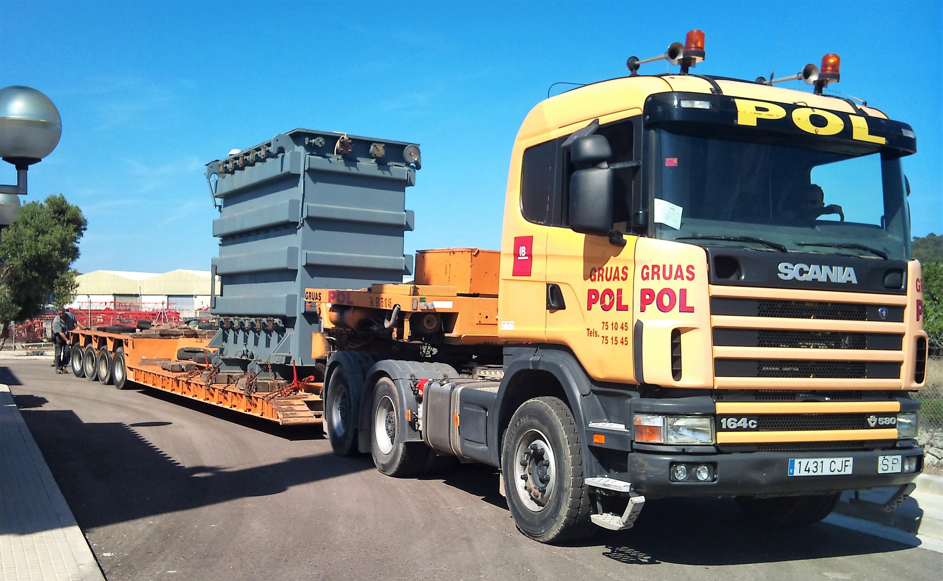 Gruas pol empresa lider en transporte y elevaci n de las - Transporte islas baleares ...